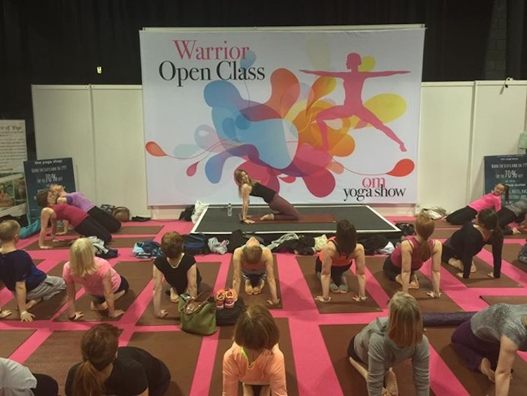 Jo Teaching at the Om Yoga Show